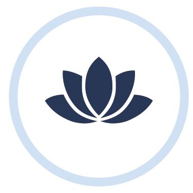 Workplace mediation icon of a flower